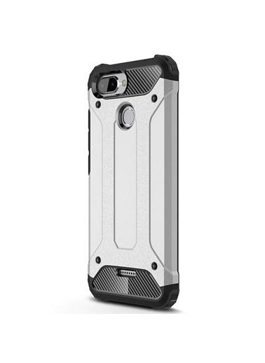 Microsonic Xiaomi Redmi 6 Kılıf Rugged Ar  Gümüş